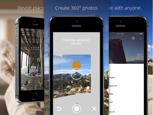 Photo Sphere sur iOS