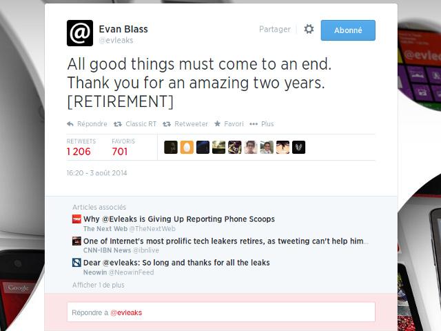 La retraite de @evleaks