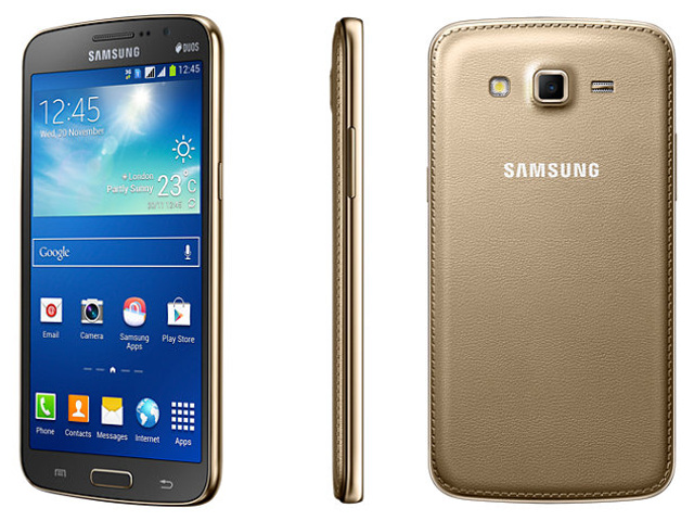 Le Samsung Galaxy Grand 2 en doré