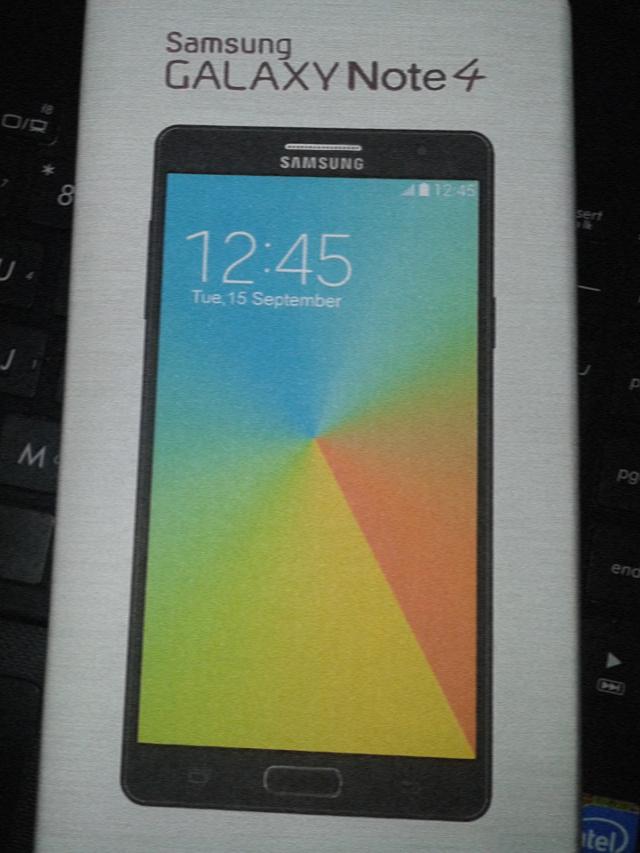 La boîte du Samsung Galaxy Note 4