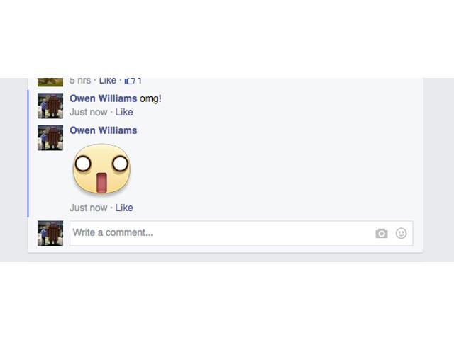 Des stickers dans les commentaires de Facebook