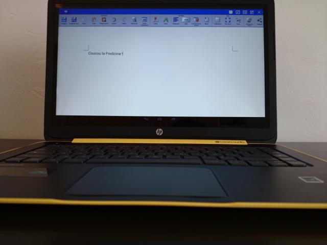 Du traitement de texte sur le HP SlateBook 14