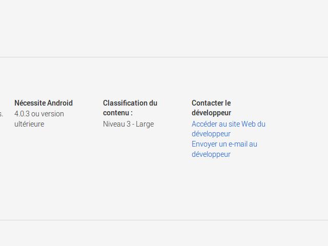 Bientôt une nouvelle coordonnée sur le Google Play