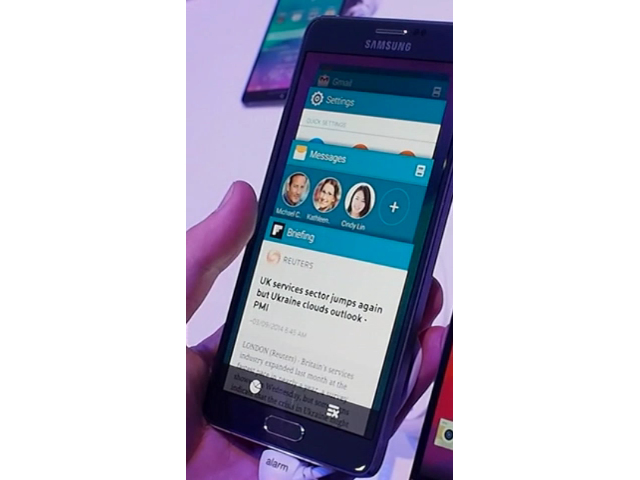 Des airs d'Android L sur le Samsung Galaxy Note 4