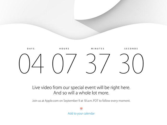 Regarder en direct la Keynote de l'iPhone 6, ce sera possible !