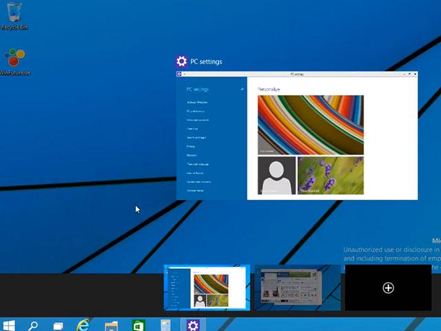 Bureaux virtuels Windows 9