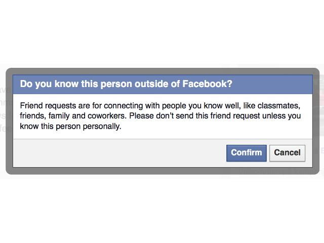 La confirmation du lien d'amitié par Facebook