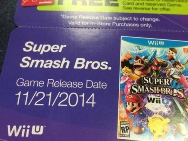 Une date de sortie pour Super Smash Bros. for Wii U