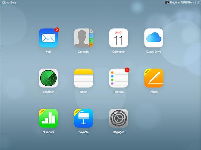 iCloud Beta: capture 1