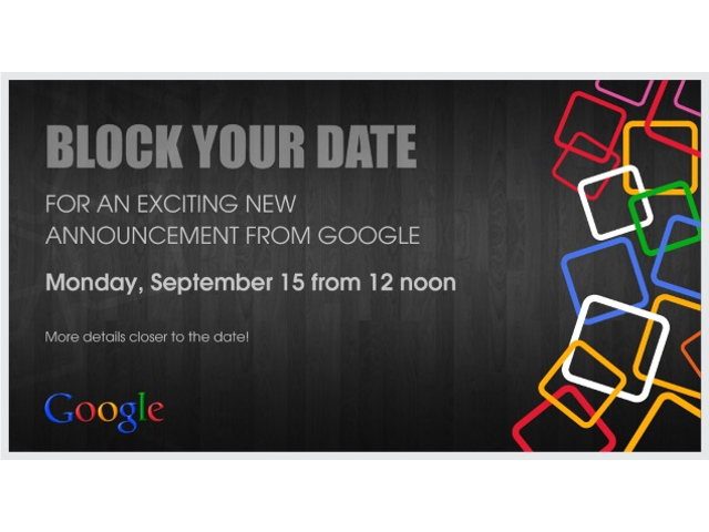 L'invitation de Google