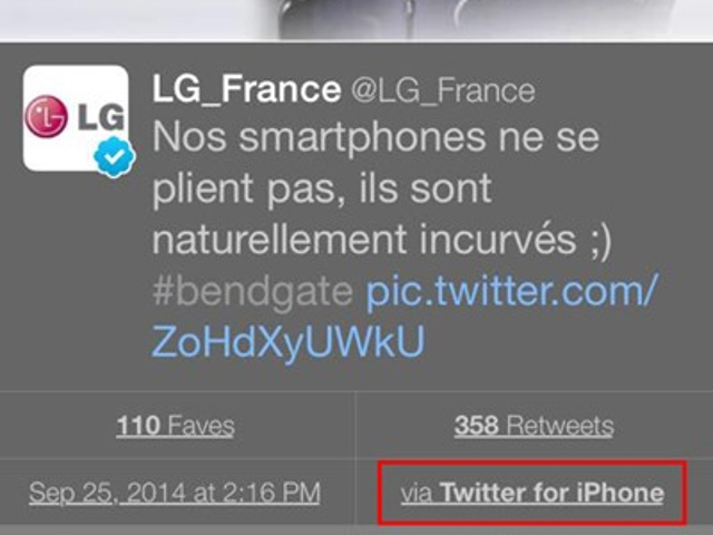 Quand LG trolle Apple en utilisant un iPhone