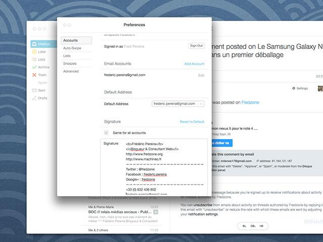 MAJ Mailbox OS X