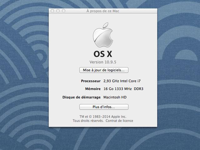 MAJ OS X Mavericks