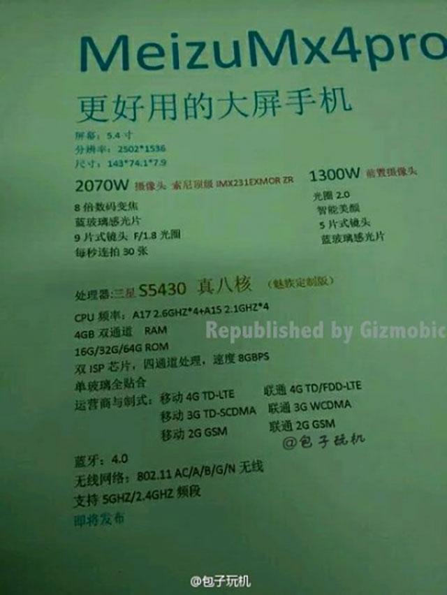 Document Meizu MX4 Pro
