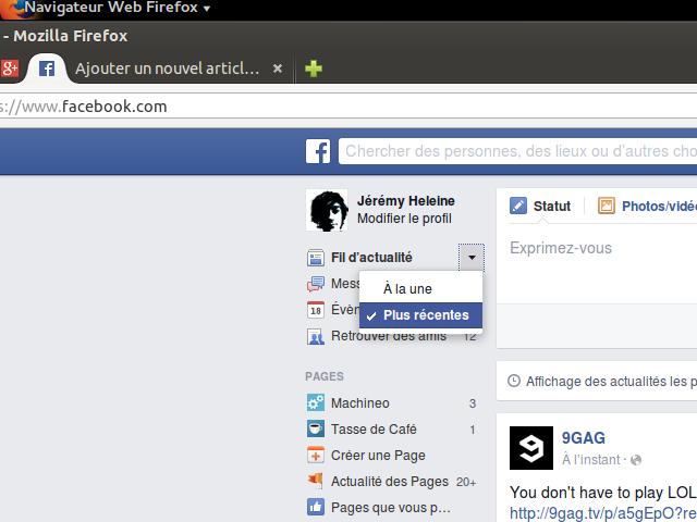 Les actualités les plus récentes sur Facebook