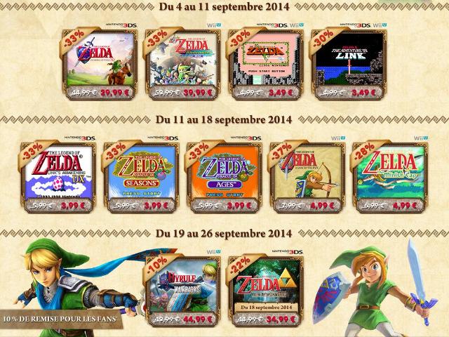 Promotions sur les jeux Zelda