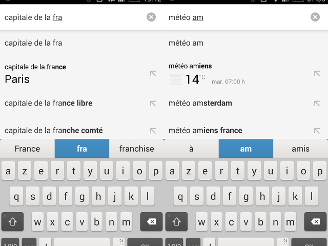 Les suggestions Chrome pour Android