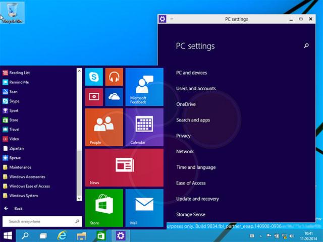 Windows 9 : capture 1