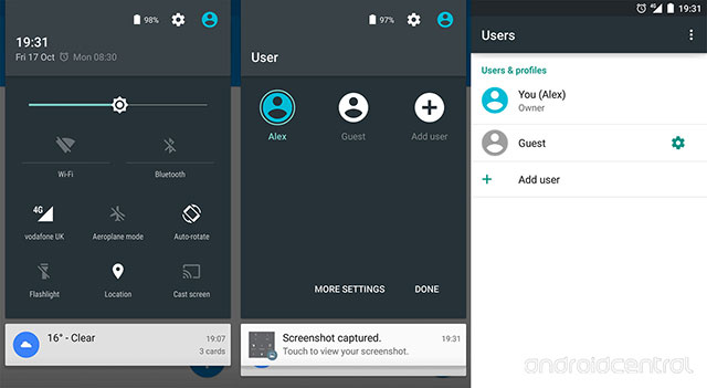 Captures Android 5.0 Lollipop Quick Settings