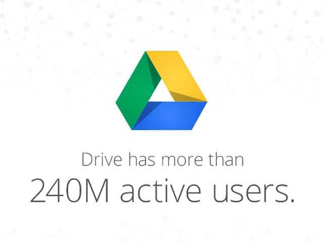 Chiffres clé Google Drive