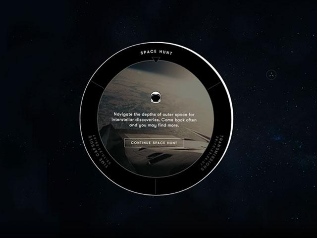 Chrome Experiment Interstellar