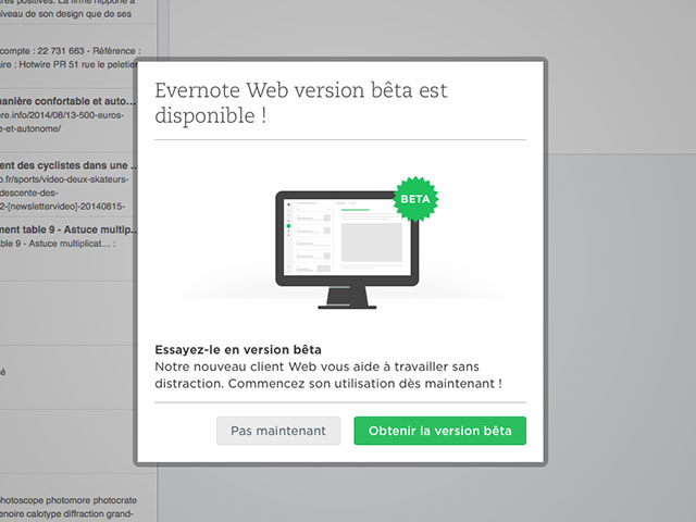 Evernote : capture 1