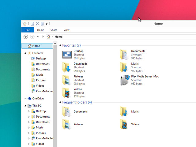 Explorateur fichiers Windows 10 : capture 1
