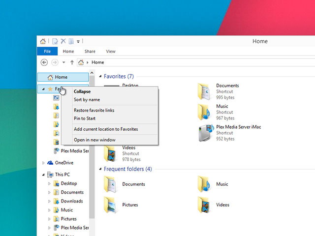 Explorateur fichiers Windows 10 : capture 3