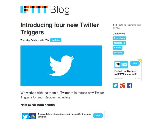 IFTTT et Twitter