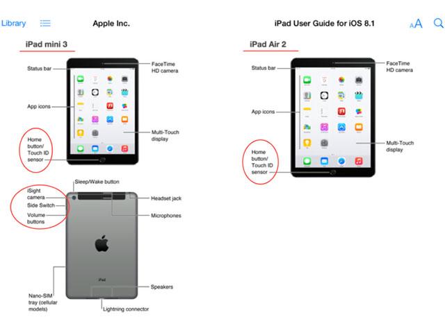 iPad Air 2 et iPad Mini 3
