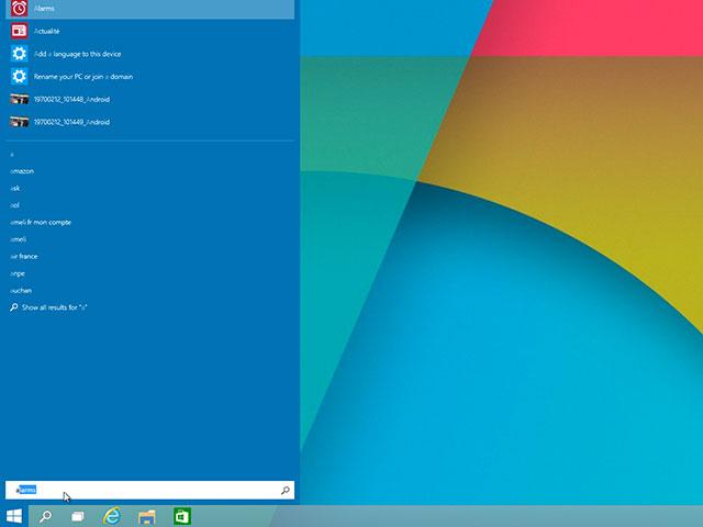 Menu démarrer Windows 10 : capture 4