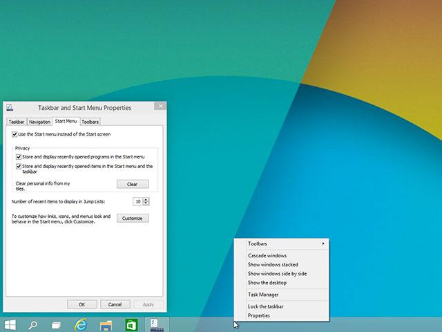 Menu démarrer Windows 10 : capture 6