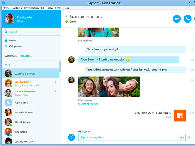 Nouvelle version Skype