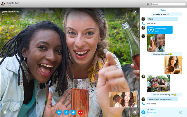 Nouvelle version Skype 2