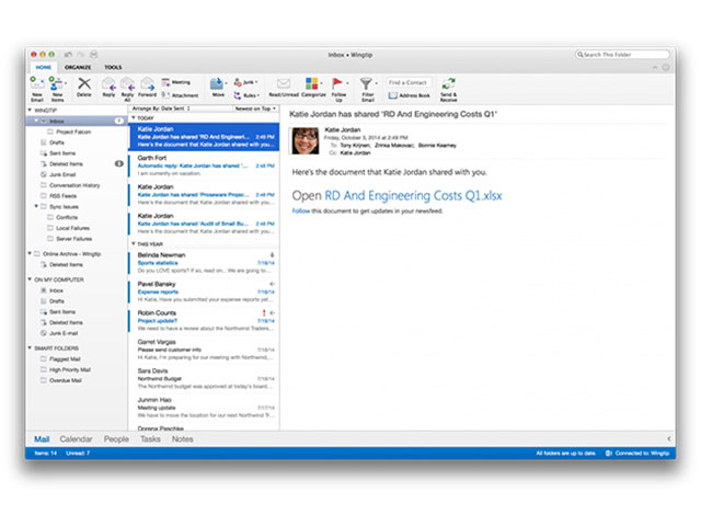 Outlook OS X