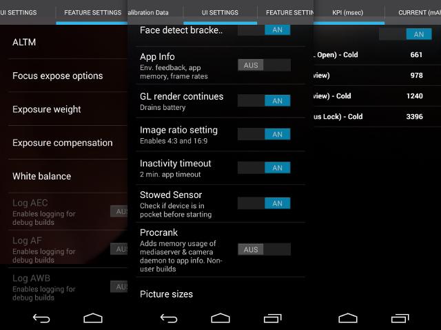 Les paramètres avancés de la caméra de Motorola