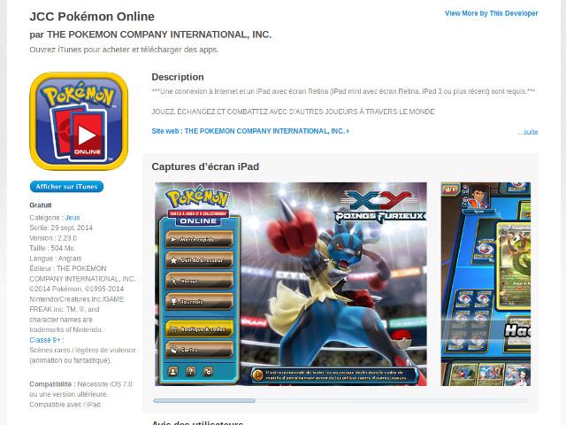 Pokémon sur iPad