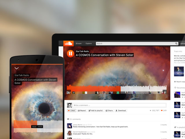 SoundCloud nouvelle interface