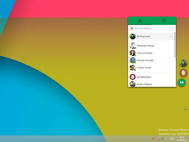 Utiliser Hangouts sur Chrome 1