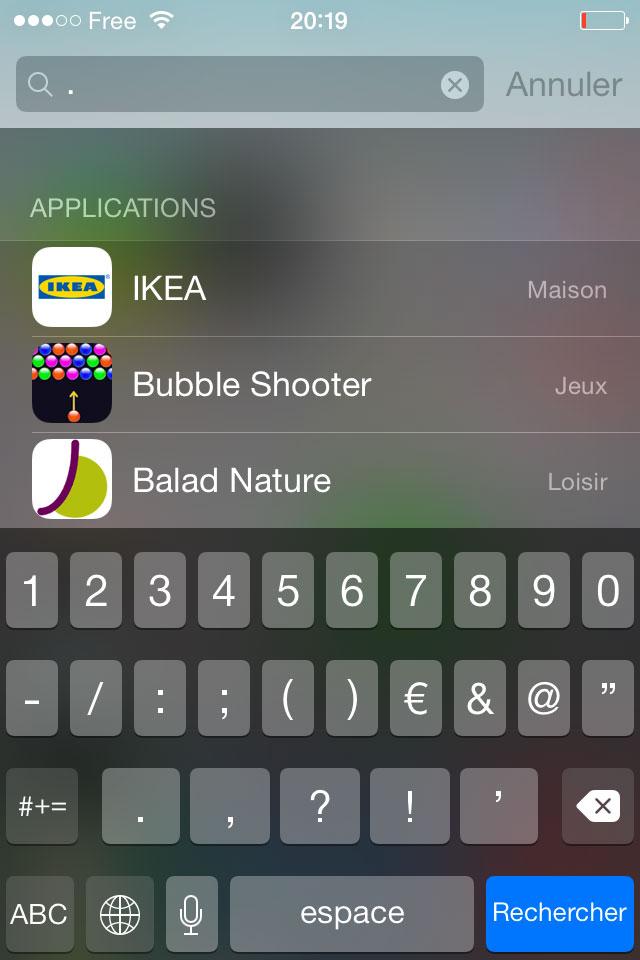 Astuce Spotlight iOS 8