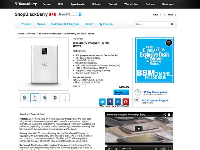 BlackBerry Passport Blanc