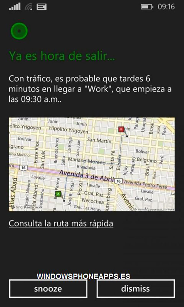 Cortana Espagnol