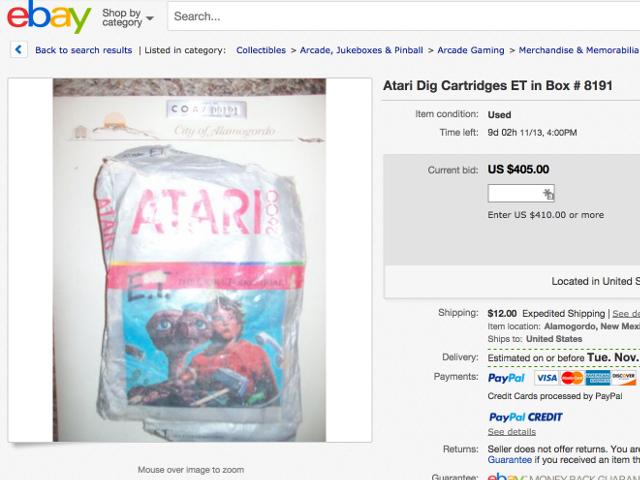 E.T. est sur eBay