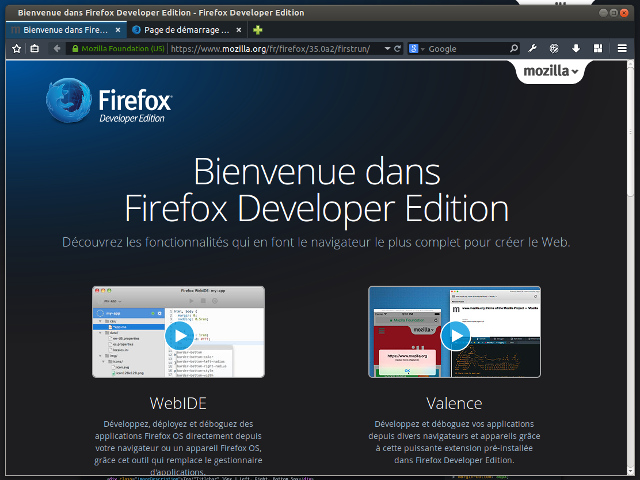 Firefox Developer Edition : point de vue d'un développeur