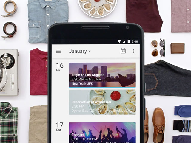 Google Agenda Lollipop