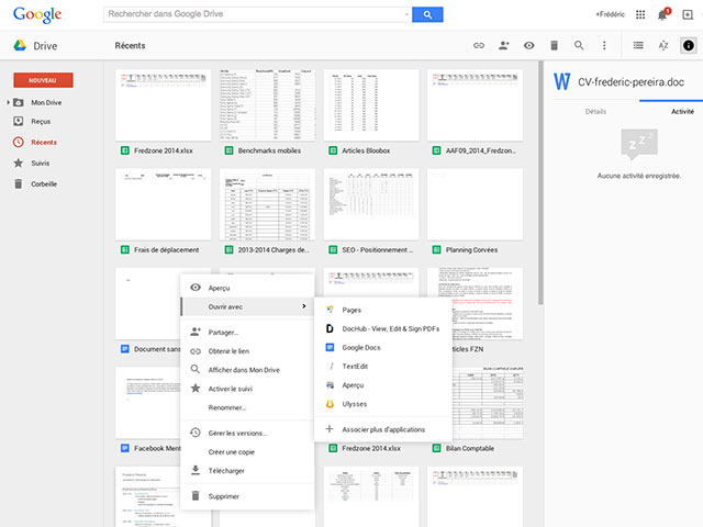 Applications locales Google Drive