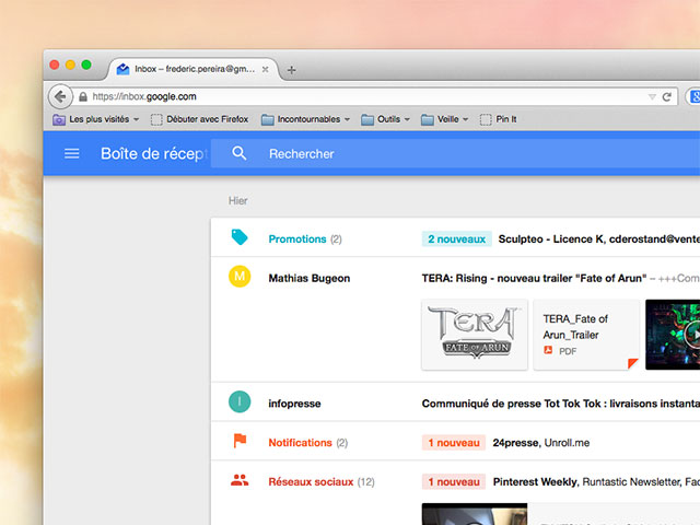 Inbox Firefox Safari