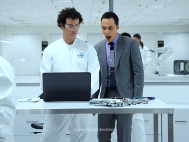 Jim Parsons chez Intel