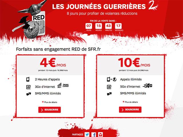 Forfait 4G SFR 10€