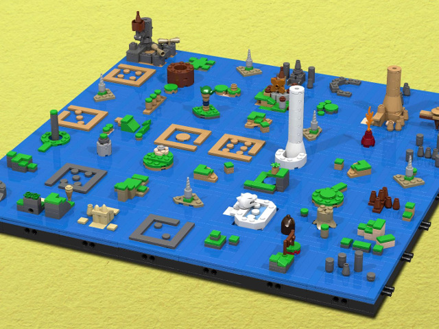 La carte de Zelda The Wind Waker avec des LEGO